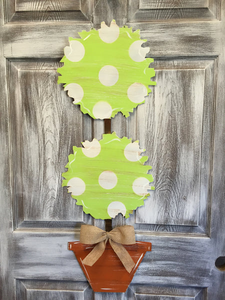 "Topiary Door Hanger 36""x13"" More Colors Available"