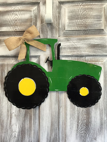 "Tractor Door Hanger and Yard Stakes 16""x22"" More Colors Available"