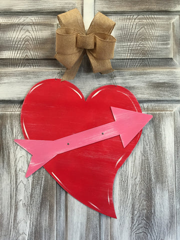 "Heart Door Hanger 22""x20"" More Colors Available"