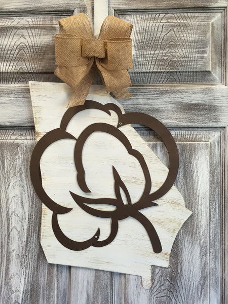 "State of Georgia Doorhanger and Yard Stake 21""x16"" More Designs Available"