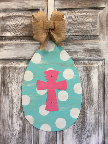 "Egg Door Hanger and Yard Stake 22""x15"" More Colors Available"