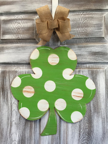 "Shamrock Door Hanger 20""x19"""