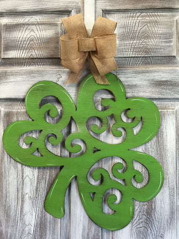 "Shamrock Fancy Doorhanger 20""x22"""