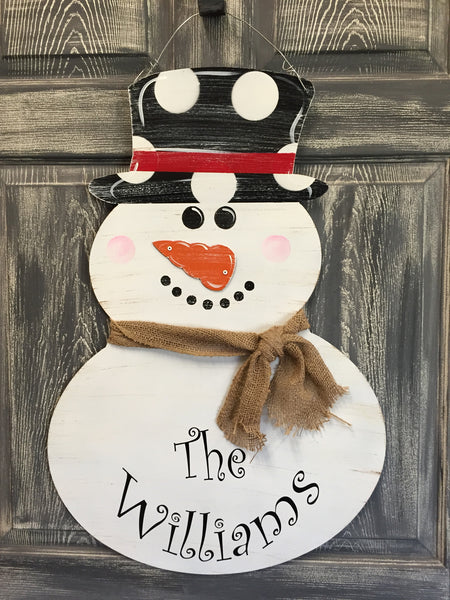 "Snowman Door Hanger and Yard Stakes 29""x20"" (name not included)"