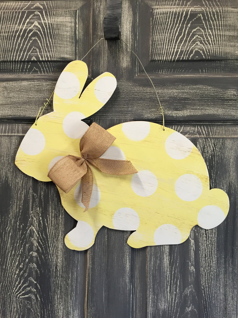 "Rabbit Doorhanger and Yard Stake 18""x21"" More Colors Available"