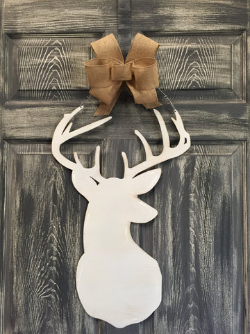 "Deer Head 24""x10"" More Colors Available"