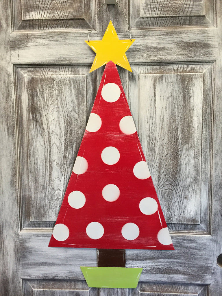 Christmas Tree With Star Doorhanger 37 X18 Steel Southern Designs