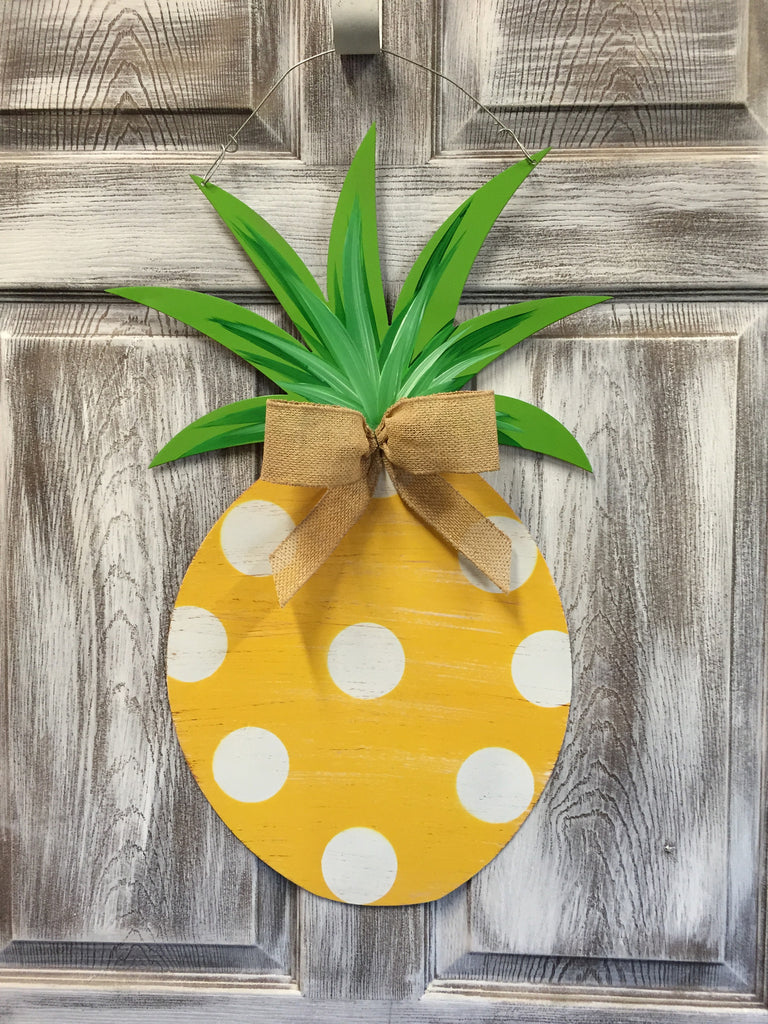 ... Pineapple Door Hanger and Yard Stakes 25 x14  More Designs Available & Pineapple Door Hanger and Yard Stakes 25
