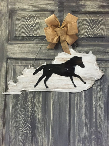 "State of Kentucky Doorhanger 12""x24"""