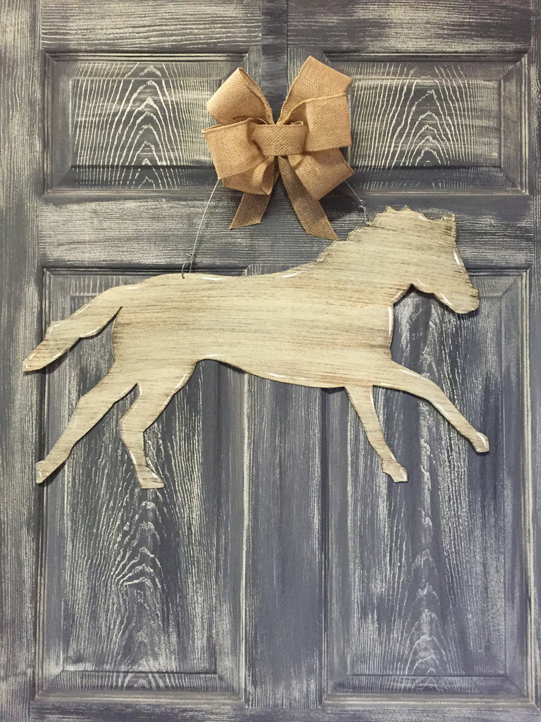 "Horse Running Doorhanger 16""x24"" More Colors Available"