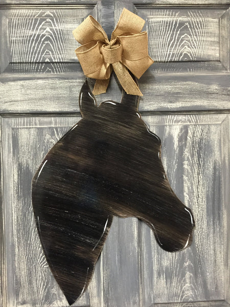 "Horse Head Doorhanger 24""x17"" More Colors Available"