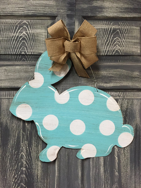 "Bunny Doorhanger and Yard Stake 18""x21"" More Colors Available"