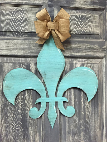 "Fleur De Lis Doorhanger 24""x23"" More Colors Available"