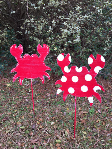 "10"" Crab Yard Stake More Colors Available"