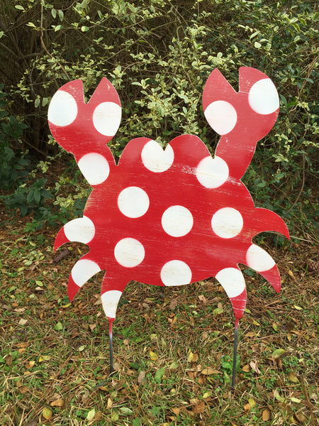 "Crab Door Hanger and Yard Stake 20""x19"" More Colors Available"