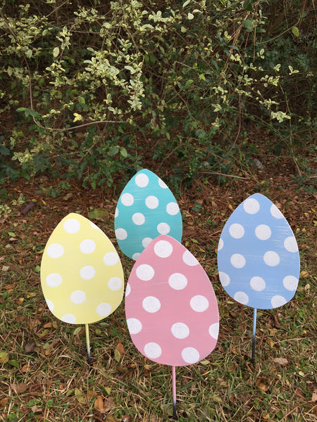 "10"" Egg Yard Stakes More Colors Available"