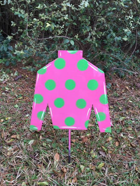 "10"" Jockey Silks Yard Stake More Colors Available"