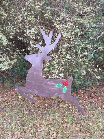 "Reindeer Yard Stake 39""x33"" More Colors Available"