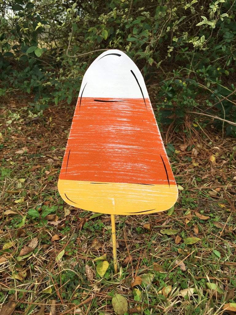 "10"" Candy Corn Yard Stake"