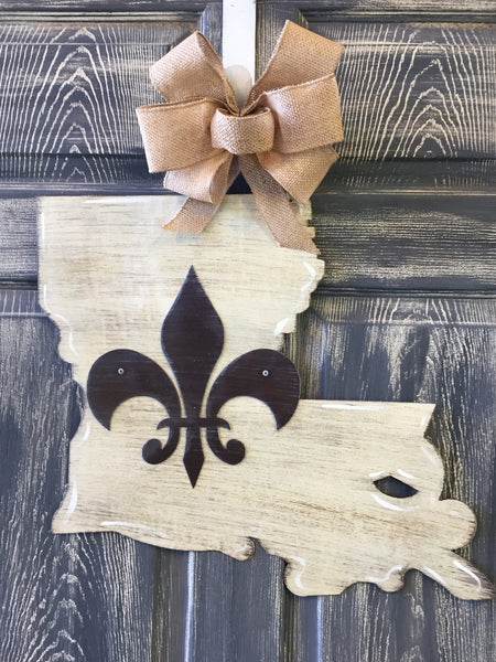 "State of Louisiana Doorhanger or Yard Stake 17""x20"""