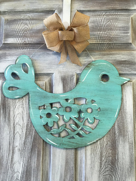 "Spring Bird Doorhanger 17""x23"" More Colors Available"