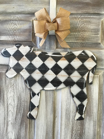 "Cow Doorhanger or Yard Stake 18""x22"""