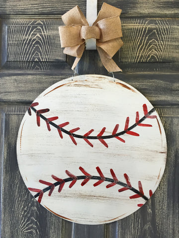 Baseball Doorhanger or Yard Stake 20""