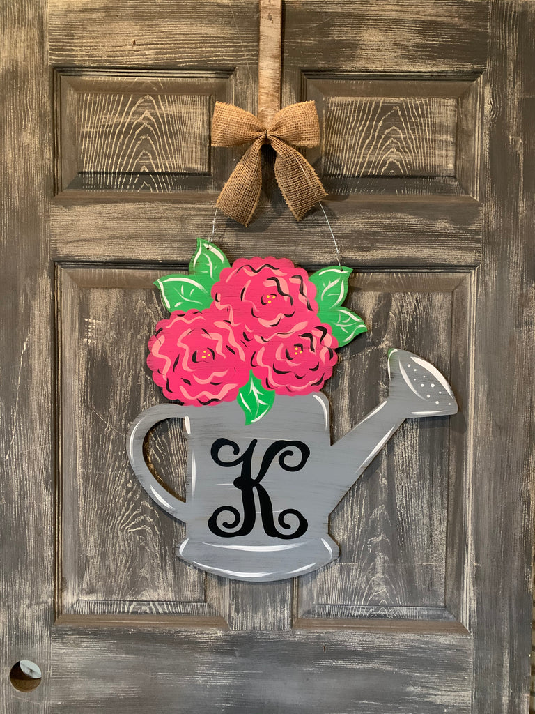 "Water Can Door Hanger / Yard Stake 22""x21"""