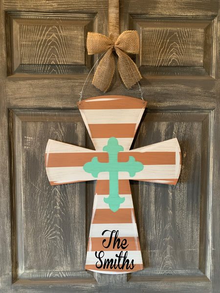 "Cross Doorhanger and Yard Stakes 24""x18"" More Colors Available"
