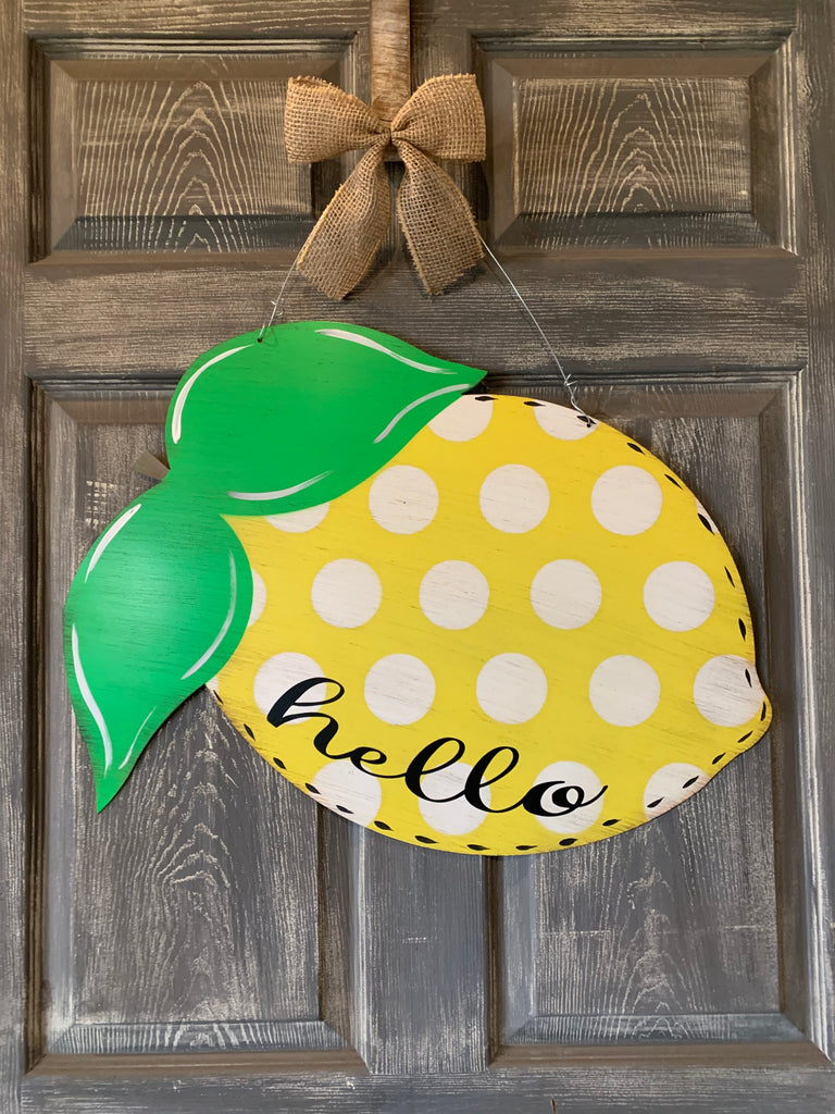Lemon door hanger 24x18""