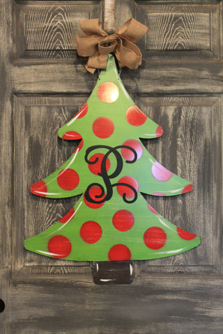 "Christmas Tree Doorhanger and Yard Stakes 29""x22"" More Colors Available"