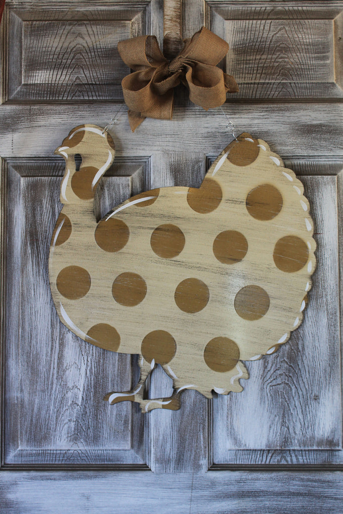 "21""x 23"" Turkey door hanger"
