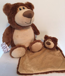 Brown Bear cubbie and snuggle blanket set