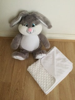 Gift set: personalised bunny and blanket