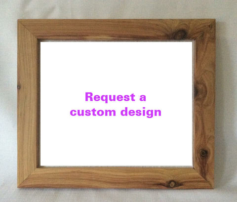 Request a custom made - Framed wall hanging