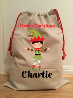 Large Personalised Santa Sack