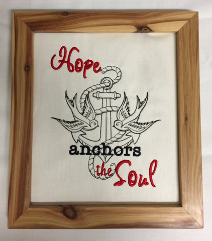 Hope anchors the soul - Framed wall hanging