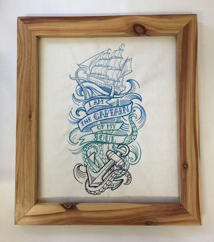 Captain of my soul - Framed wall hanging