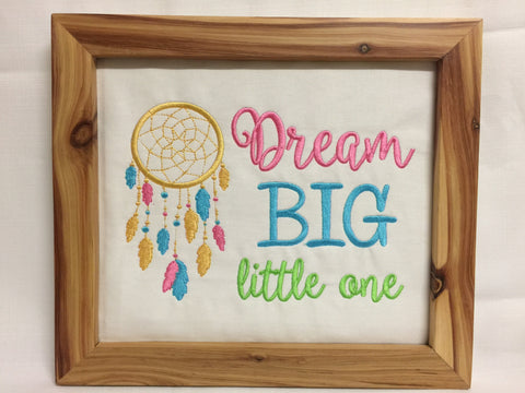 Dream big little one - Framed wall hanging