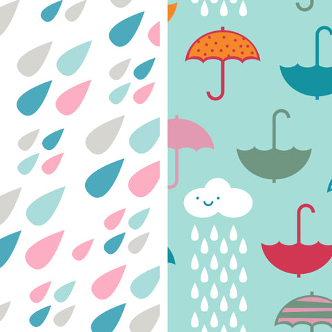 Bumkins | Raindrops & Umbrella