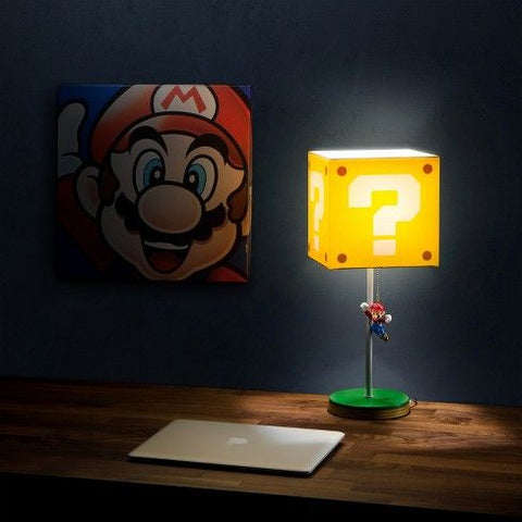 super mario lamp with question block shade