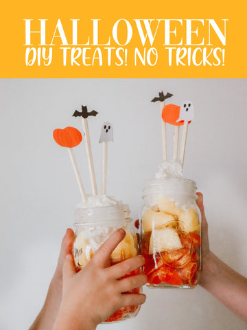 candy corn snack in jars