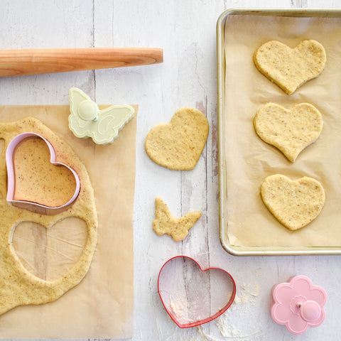 banana cookies in the shape of hearts