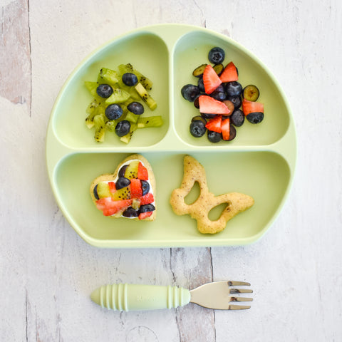 cookies with fruit in toddler dish