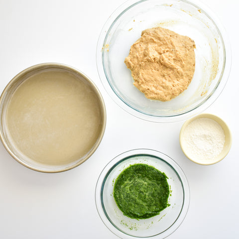 ingredients for checkered cake batter