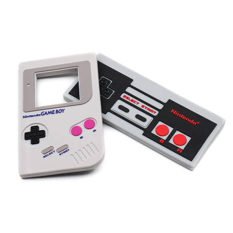 nintendo gameboy and NES controller silicone teethers