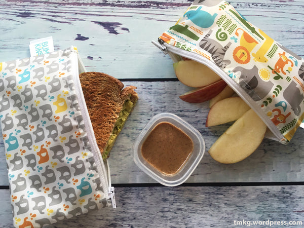 Avocado 'Turkey' Toast School Lunch Petit Collage Snack Bags