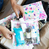 Clear Travel Bag 3-Pack: Watercolor