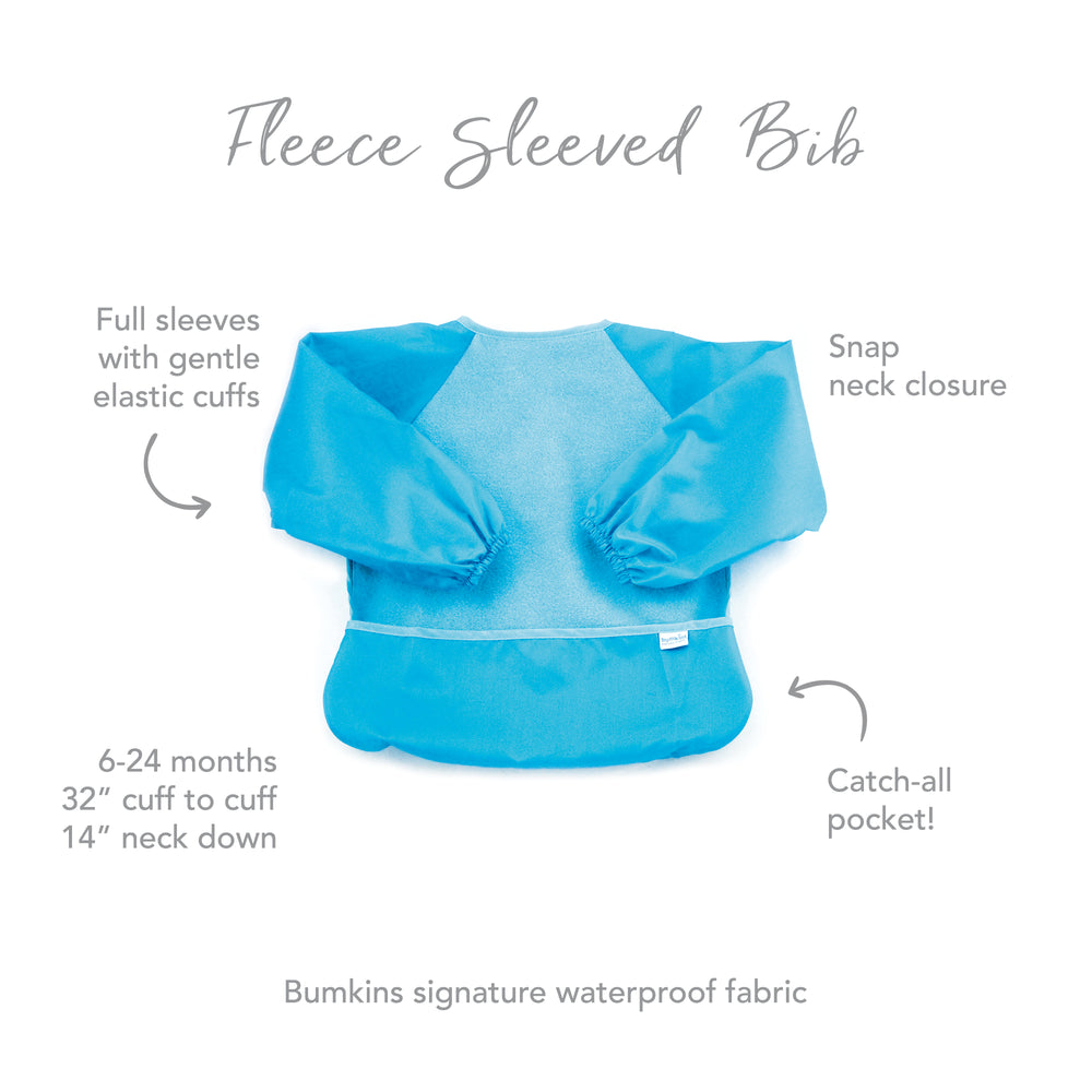 Fleece Sleeved Bib: Blue
