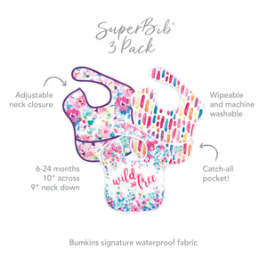 SuperBib® 3 Pack: Wild & Free, Watercolor, & Brush Strokes